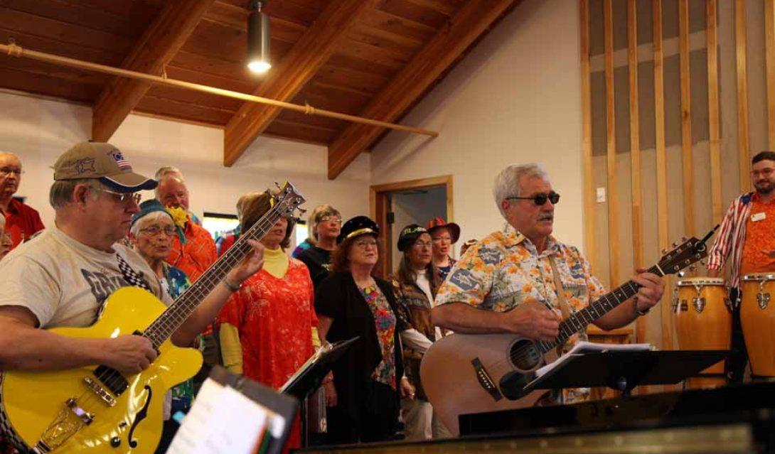 Atascadero United Methodist Church's choir on Holy Humor Sunday 2018
